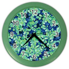Moonlight On The Leaves Color Wall Clocks