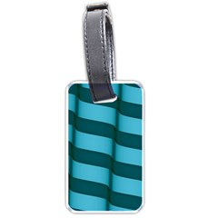 Curtain Stripped Blue Creative Luggage Tags (two Sides)