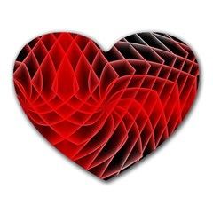 Abstract Red Art Background Digital Heart Mousepads