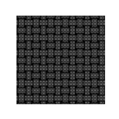 Background Weaving Black Metal Small Satin Scarf (square)