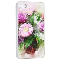Flowers Roses Bouquet Art Nature Apple Iphone 4/4s Seamless Case (white)