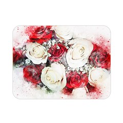 Flowers Roses Bouquet Art Nature Double Sided Flano Blanket (mini)