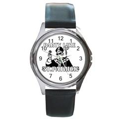 St  Patricks Day  Round Metal Watch