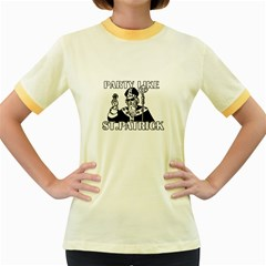 St  Patricks Day  Women s Fitted Ringer T Shirts