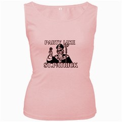 St  Patricks Day  Women s Pink Tank Top