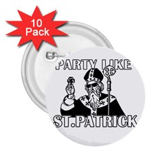 St  Patricks Day  2 25  Buttons (10 Pack)