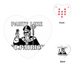 St  Patricks Day  Playing Cards (heart)