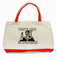 St  Patricks Day  Classic Tote Bag (red)