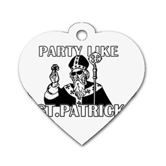 St  Patricks Day  Dog Tag Heart (one Side)
