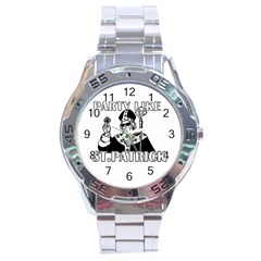 St  Patricks Day  Stainless Steel Analogue Watch