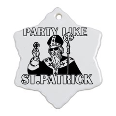 St  Patricks Day  Ornament (snowflake)