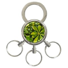 Top View Leaves 3 Ring Key Chains