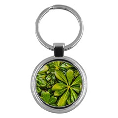 Top View Leaves Key Chains (round)