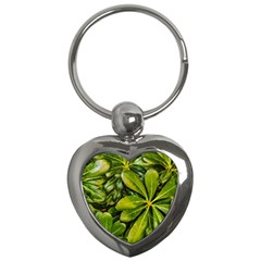 Top View Leaves Key Chains (heart)