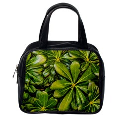 Top View Leaves Classic Handbags (one Side)