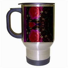 Roses In A Color Cascade Of Freedom And Peace Travel Mug (silver Gray)