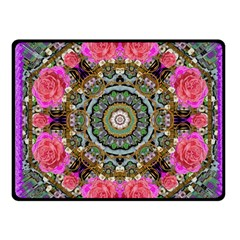 Roses In A Color Cascade Of Freedom And Peace Fleece Blanket (small)