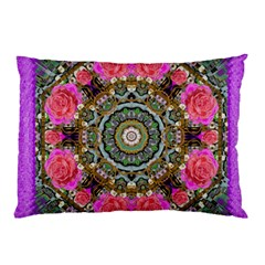 Roses In A Color Cascade Of Freedom And Peace Pillow Case (two Sides)