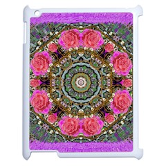 Roses In A Color Cascade Of Freedom And Peace Apple Ipad 2 Case (white)