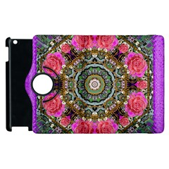 Roses In A Color Cascade Of Freedom And Peace Apple Ipad 3/4 Flip 360 Case