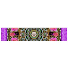 Roses In A Color Cascade Of Freedom And Peace Small Flano Scarf