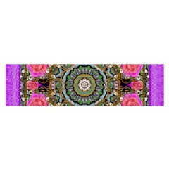 Roses In A Color Cascade Of Freedom And Peace Satin Scarf (oblong)