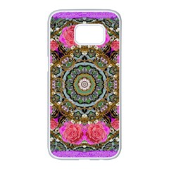 Roses In A Color Cascade Of Freedom And Peace Samsung Galaxy S7 Edge White Seamless Case