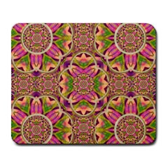 Jungle Flowers In Paradise  Lovely Chic Colors Large Mousepads