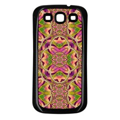 Jungle Flowers In Paradise  Lovely Chic Colors Samsung Galaxy S3 Back Case (black)