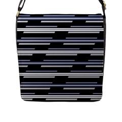 Skewed Stripes Pattern Design Flap Messenger Bag (l)