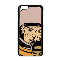 Astronaut Retro Apple Iphone 6/6s Black Enamel Case
