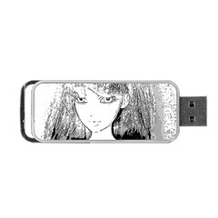 Girl Portable Usb Flash (two Sides)