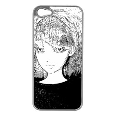 Girl Apple Iphone 5 Case (silver)