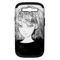 Girl Samsung Galaxy S Iii Hardshell Case (pc+silicone)