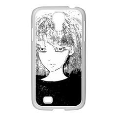 Girl Samsung Galaxy S4 I9500/ I9505 Case (white)