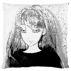 Girl Large Flano Cushion Case (one Side)