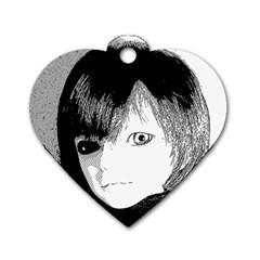 Boy Dog Tag Heart (one Side)
