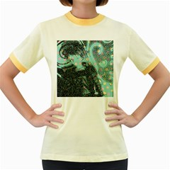 Grainy Angelica Women s Fitted Ringer T Shirts