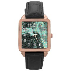 Grainy Angelica Rose Gold Leather Watch