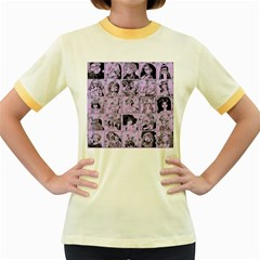 Lilac Yearbook 1 Women s Fitted Ringer T Shirts