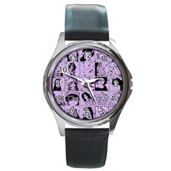 Lilac Yearbook 2 Round Metal Watch