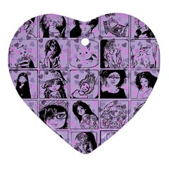 Lilac Yearbook 2 Ornament (heart)