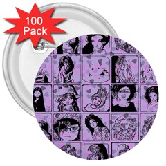 Lilac Yearbook 2 3  Buttons (100 Pack)