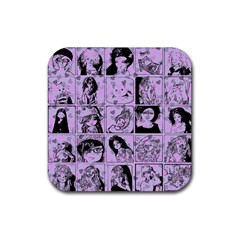 Lilac Yearbook 2 Rubber Square Coaster (4 Pack)