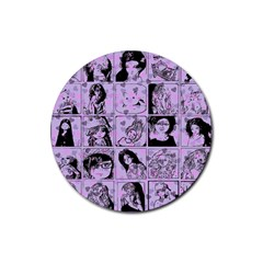 Lilac Yearbook 2 Rubber Round Coaster (4 Pack)