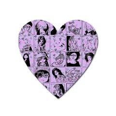 Lilac Yearbook 2 Heart Magnet