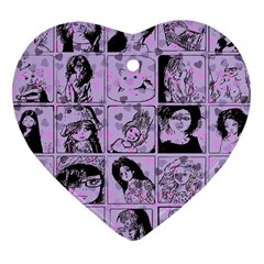 Lilac Yearbook 2 Heart Ornament (two Sides)