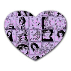 Lilac Yearbook 2 Heart Mousepads