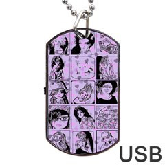 Lilac Yearbook 2 Dog Tag Usb Flash (two Sides)