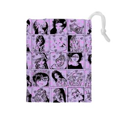 Lilac Yearbook 2 Drawstring Pouches (large)